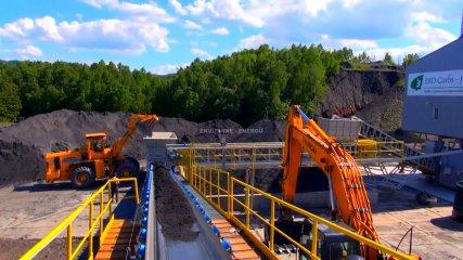 Technologická linka na výrobu energetického paliva z flotačních odpadů/kalů