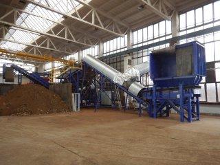 Třídící linka kovových odpadů