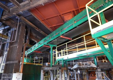 Internal biomass conveying
